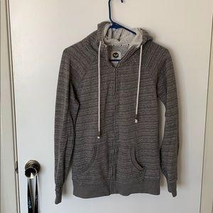Roxy hoodie size small grey zip up